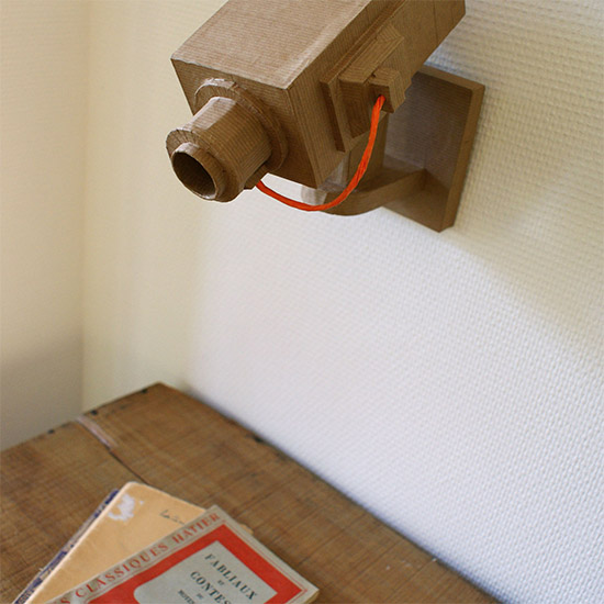 Cardboard video camera 005 Filez Doux etsy