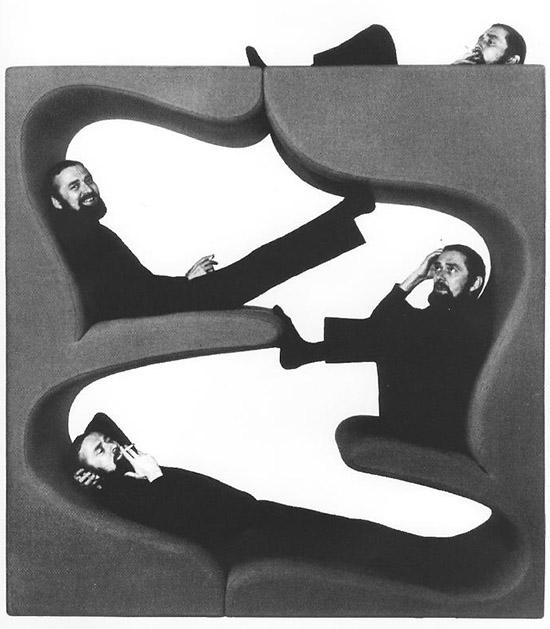 Verner Panton lounging two level seat