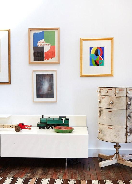 Sonja Delaunay art in fashion designer Lee Mathews home Sydney