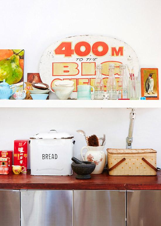 Vintage kitchen ware fashion designer Lee Mathews home Sydney