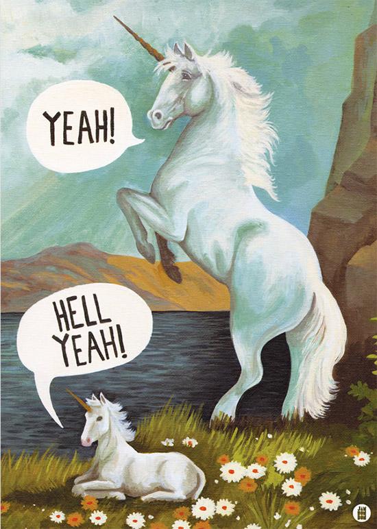 Hell Yeah unicorns by JAMBONBON
