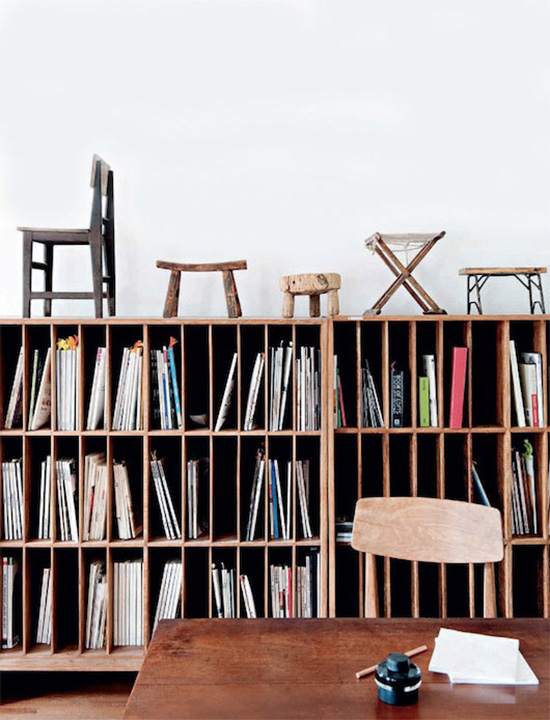 Gu qi furniture designer bookcase beijing river