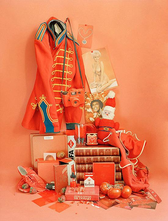 Sara Cwynar color study orange and red