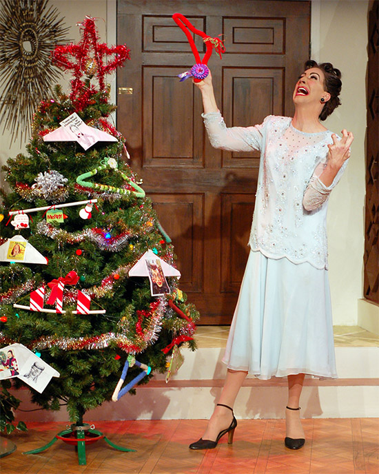 Ron Megee is Joan Crawford in A Very Joan Crawford Christmas by Jeff Church