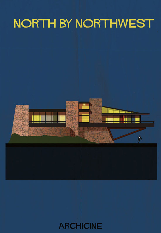 Archicine by federico babina north by northwest architecture building illustration