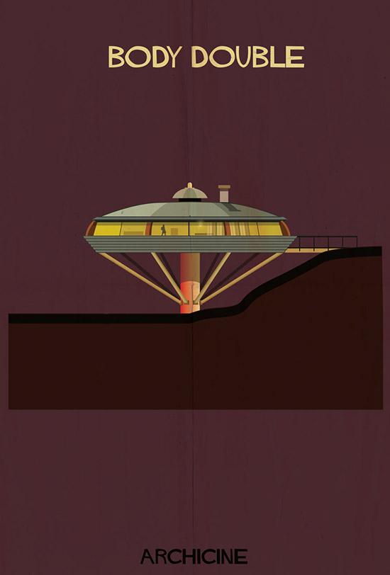 Archicine by federico babina body double architecture building illustration