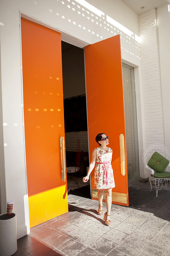 Orange door Parker Palm Springs hotel