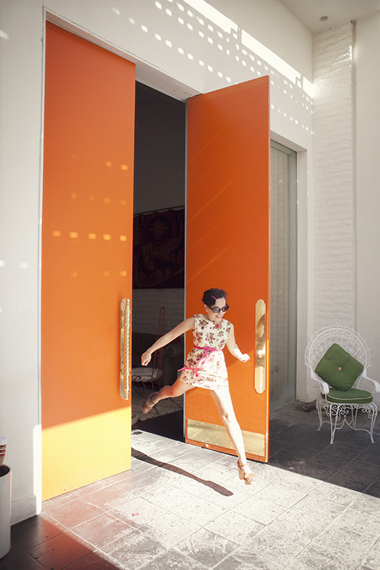 Parker Hotel orange door Whorange leap