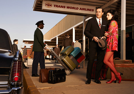 Don and Megan Draper TWA airport Mad Men Season 7
