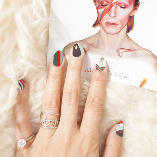 David Bowie Star Trek NailSnaps manicure