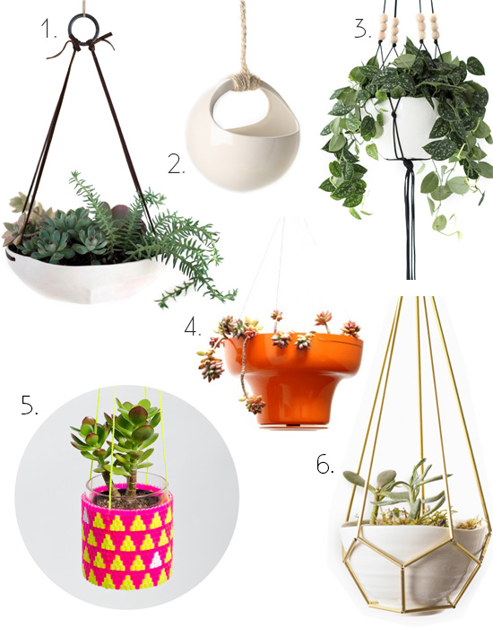 Hanging planters round up modern ceramic