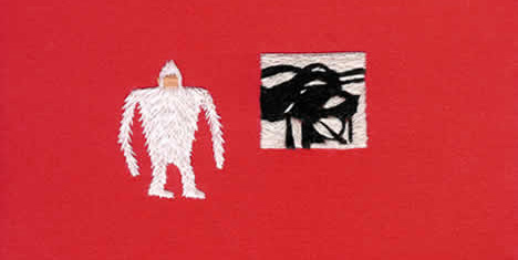 Megan Whitmarsh Yeti Embroidery art appreciation