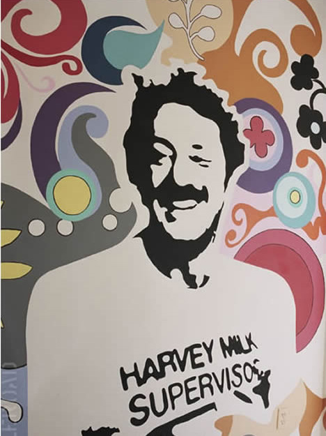 Given Harvey Milk mural 575 castro street