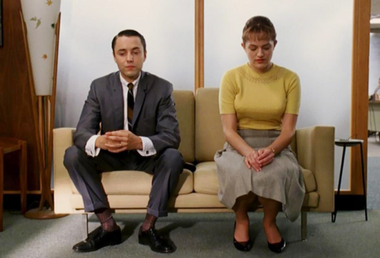Pete Campbell and Peggy Olson sofa