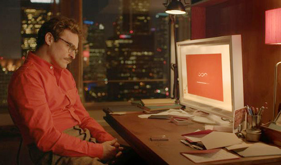 Joaquin phoenix computer set design Her by spike jonze