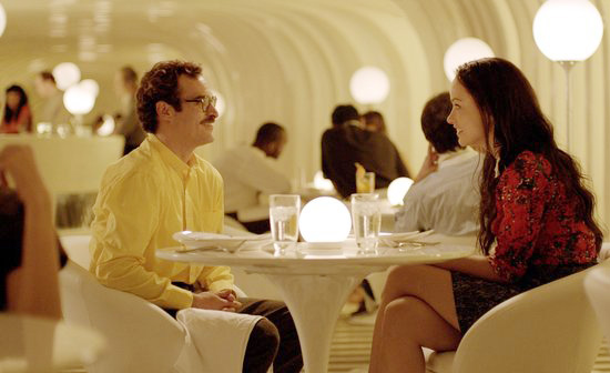 Joaquin phoenix olivia wilde restaurant set design Her by spike jonze