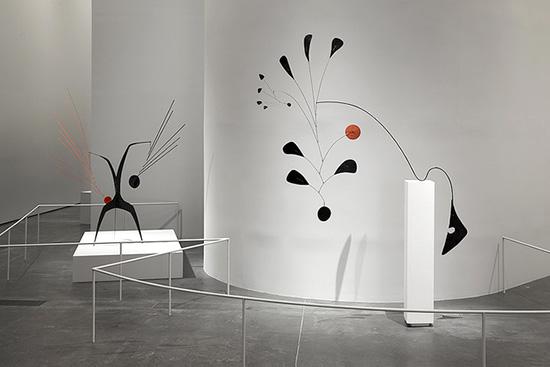 Frank Gehry designed Alexander Calder exhibit at LACMA