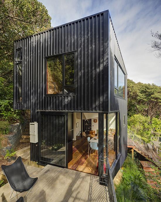 Blackpool House mid century modern design exterior by Glamuzina Paterson Architects