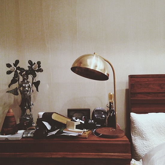 Allied maker brass half dome lamp