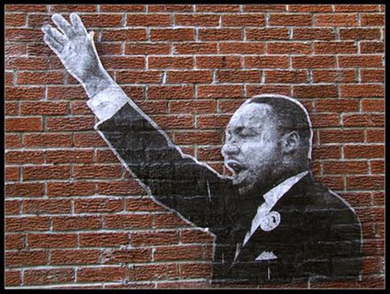 Martin luther king street art