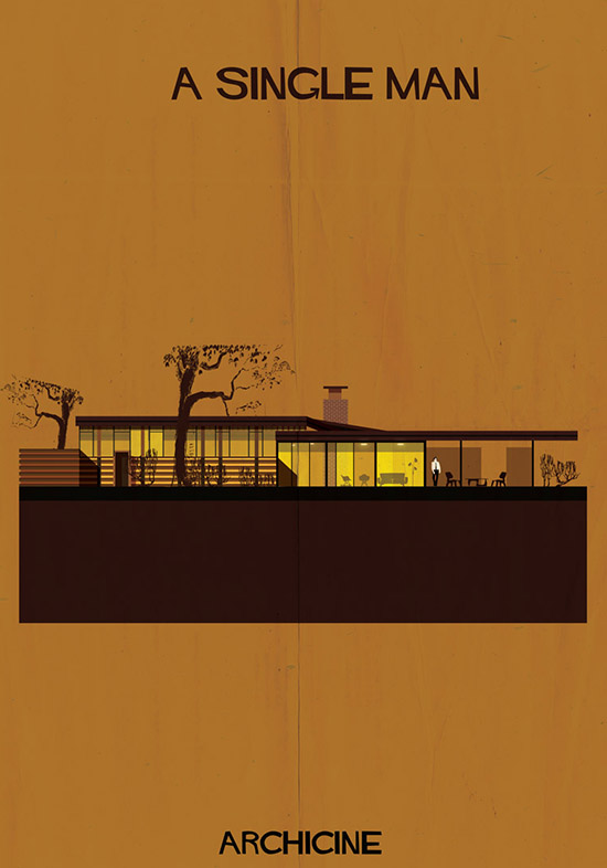 Archicine by federico babina a single man architecture building illustration