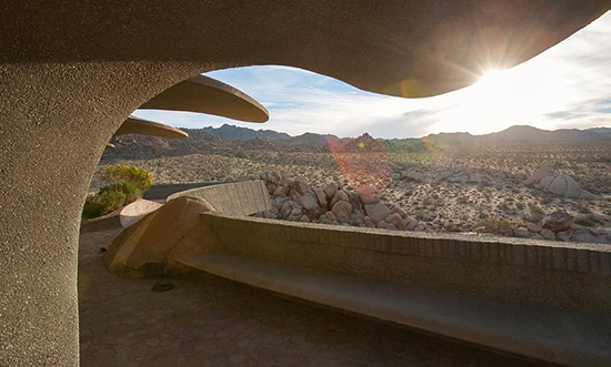 Joshua Tree supervillain house exterior view by Kendrick Bangs Kellogg