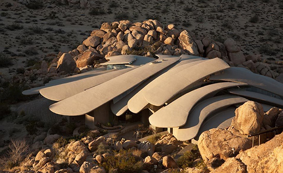 Joshua Tree supervillain house ribcage roof