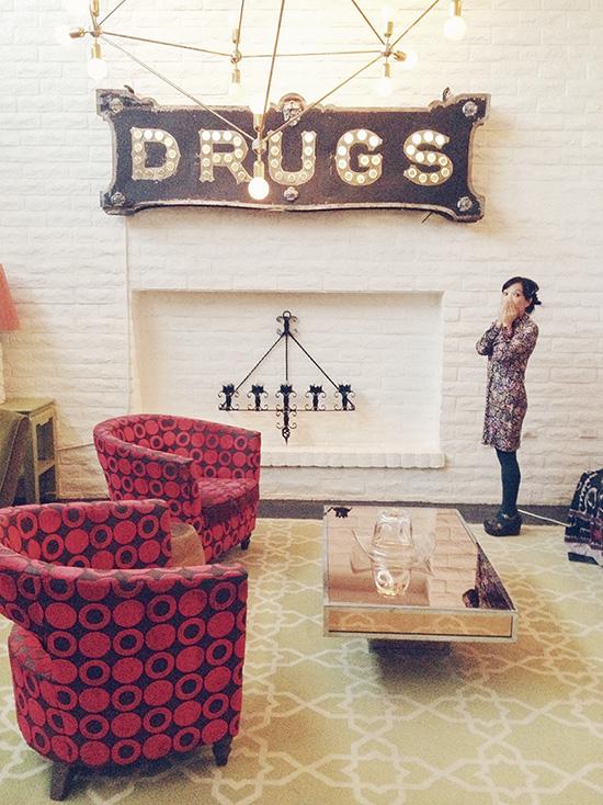 Parker Hotel Drugs sign Palm Springs