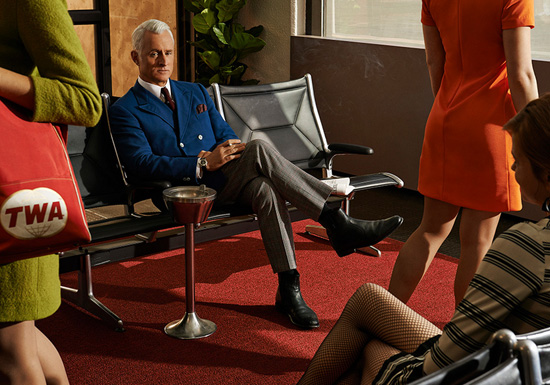 Roger Sterling TWA Mad Men season 7