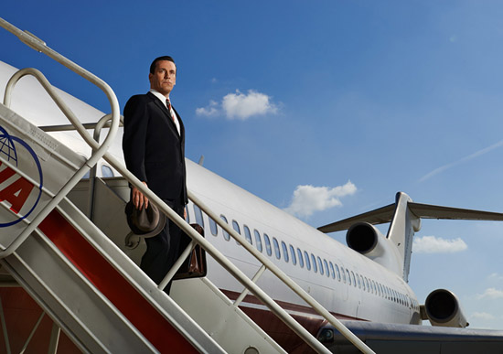 Don Draper TWA airplane Mad Men Season 7