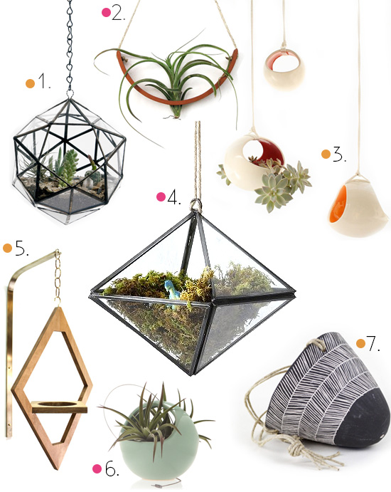 Hanging planters round up modern ceramic and mid century
