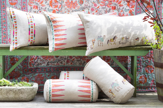 Coral and Tusk pillows
