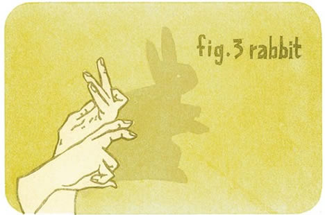 Honeylux letterprint hand shadow rabbit puppet