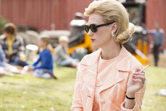 Betty Draper Francis smoking picnic Mad Men