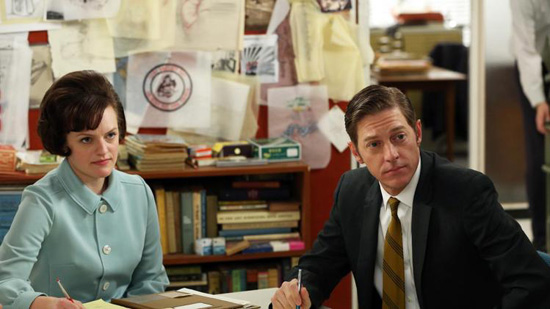 Peggy Olsen and Ted Mad Men