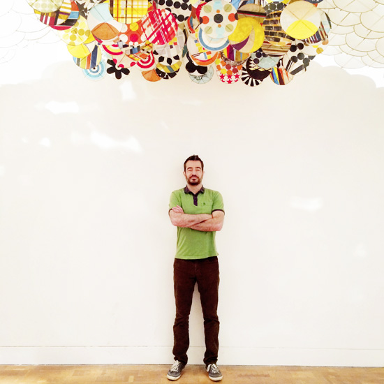 Jacob Hashimoto paper and wood Gas Giant MoCA