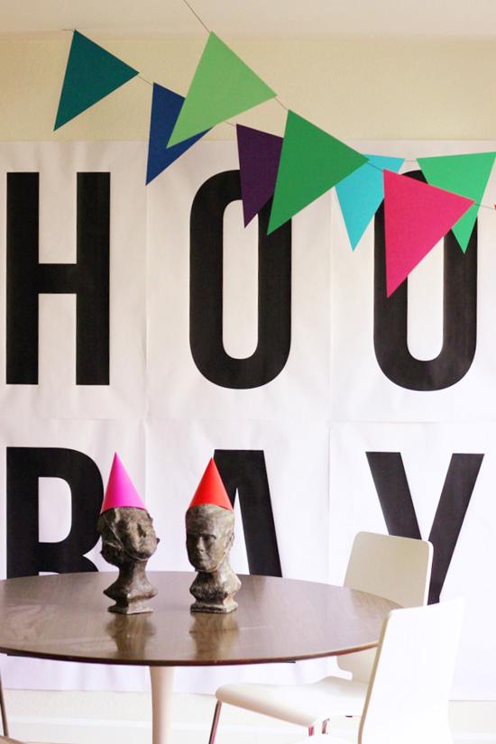 Hooray DIY banner by Hank and Hunt