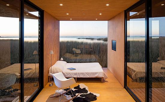Bedroom mini mod modual plywood home