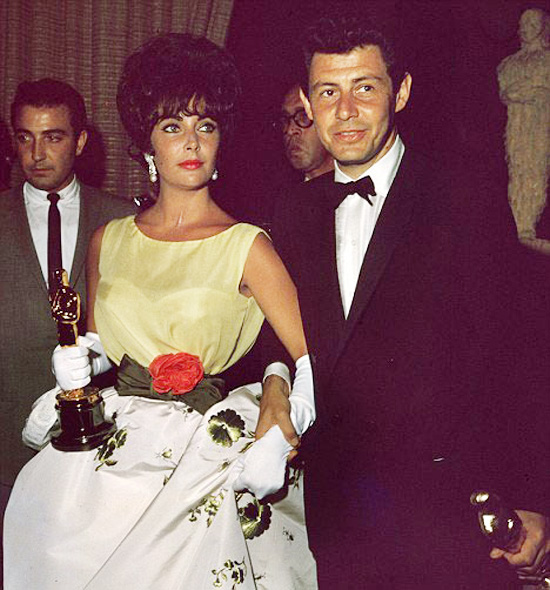 Elizabeth Taylor and Eddie Fisher Oscar gown Butterfield 8