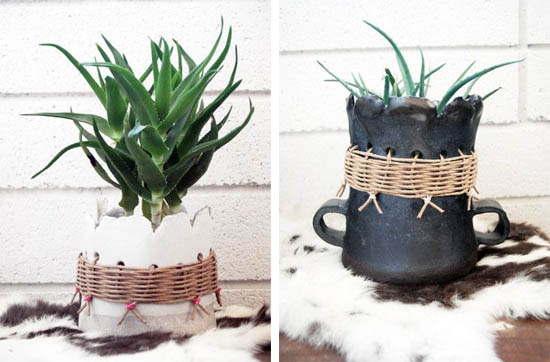 Tw workshop hand made stoneware planters