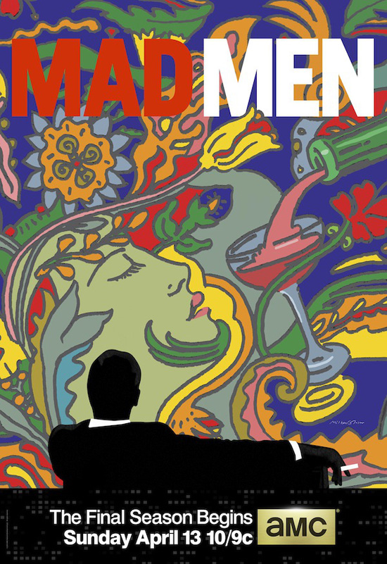 Mad Men poster key art by icon Milton Glaser