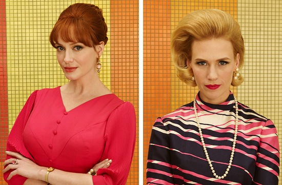 Joan and Betty 1969 Mad Men Season 7