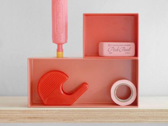 Pink desk accessories