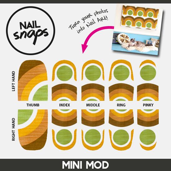 Whorange Mini Mod Mani NailSnaps