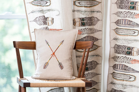 Coral and Tusk double cross arrows pillow