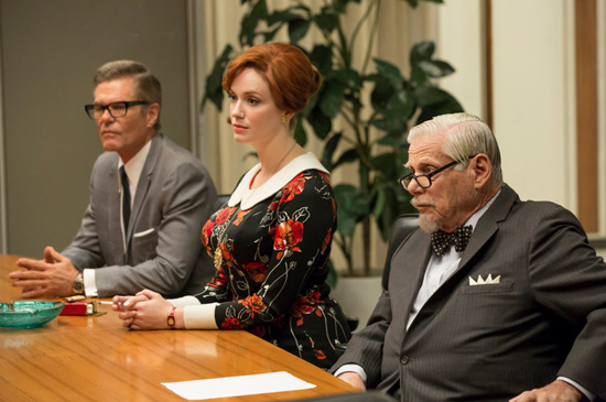 Joan Holloway Harris rose dress Bert Cooper Mad Men