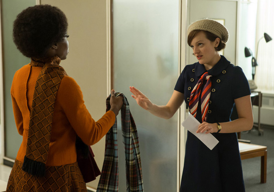 Peggy Olsen knit beret office Mad Men