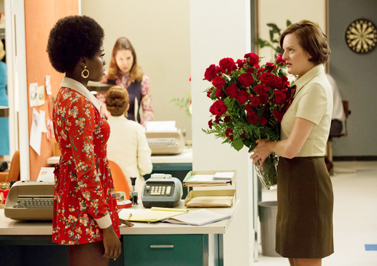 Peggy Olson office flowers Mad Men copy
