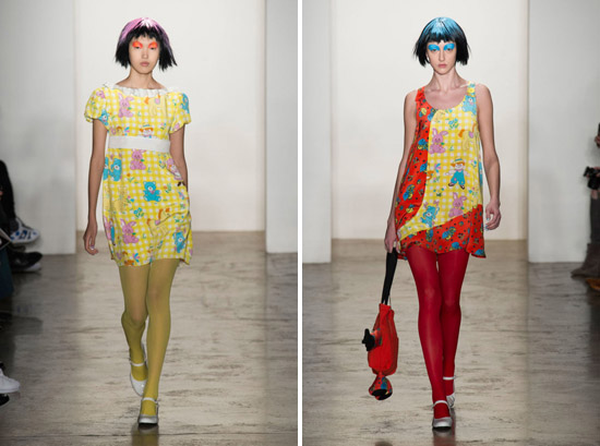 Jeremy Scott Fall 2015 Ready-to-Wear Dolly Pattern psychedelic dolls