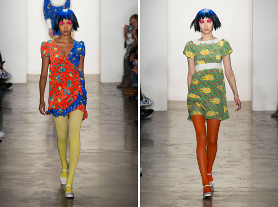 Jeremy Scott Fall 2015 Ready-to-Wear Dolly Pattern psychedelic runway dolls